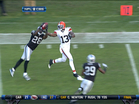 Video - Oakland Raiders DB Phillip Adams picks off Weeden