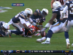 Video - San Diego Chargers CB Quentin Jammer fumble recovery