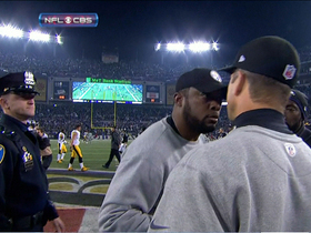 Video - Tomlin-Harbaugh heated handshake