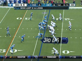 QB Luck to WR Hilton, 60-yd, pass