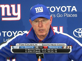 Video - New York Giants coach Tom Coughlin: 'We certainly didn't come out and play'