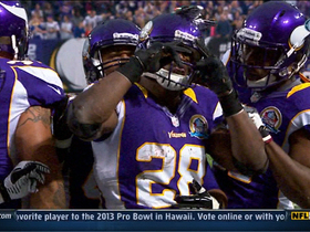 Video - Missesota Vikings RB Adrian Peterson 1-yard touchdown run