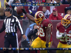 Video - Washington Redskins LB London Fletcher picks off Joe Flacco