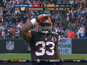 Video - Cleveland Browns RB Trent Richardson powers in for second TD