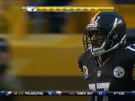 Video - Pittsburgh Steelers WR Mike Wallace 11-yard TD catch
