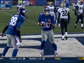 Video - New York Giants WR Victor Cruz 10-yard touchdown catch