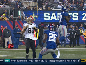 Video - Giants pick off Drew Brees