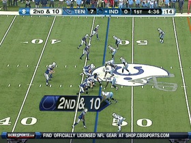 QB Luck to WR Hilton, 36-yd, pass