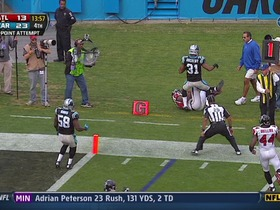 Panthers defense, 2-point conversion failed