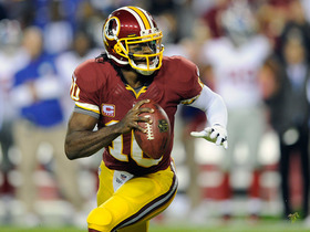 Video - Washington Redskins quarterback Robert Griffin III looks comfortable at practice