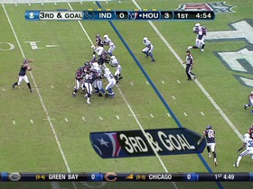 QB Schaub to WR Johnson, 3-yd, pass, TD