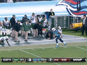 Jets coach knocked down after play
