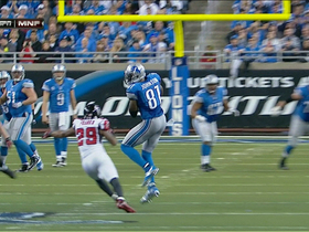Video - Detroit Lions wide receiver Calvin Johnson 26-yard gain