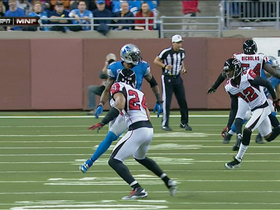 Video - Atlanta Falcons cornerback Asante Samuel picks off Matthew Stafford