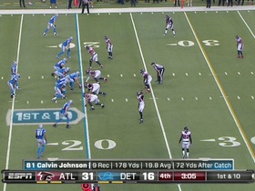 QB Stafford to WR Johnson, 26-yd, pass