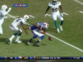 Video - Buffalo Bills WR Stevie Johnson fumbles