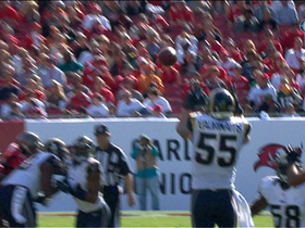Laurinaitis picks off Freeman