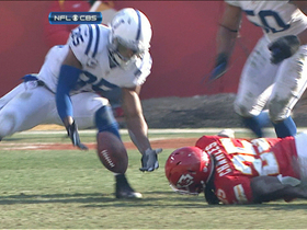 Video - Colts recover Charles' fumble