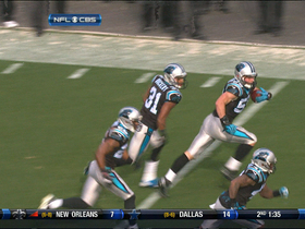 Video - Luke Kuechly picks off Leinart
