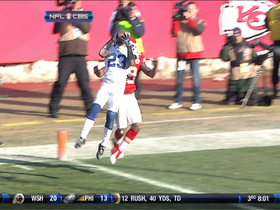 Video - Davis intercepts Quinn in red zone