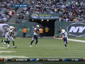 Video - New York Jets QB Greg McElroy throws an INT