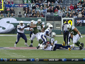 Video - New York Jets QB Greg McElroy sack fumble