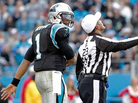 Video - Cam Newton gets chippy with Oakland Raiders, officials