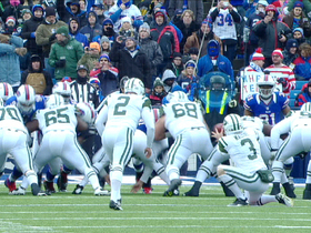 Video - Buffalo Bills block Jets' field goal attempt