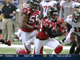 Video - Atlanta Falcons cornerback Asante Samuel picks off Josh Freeman