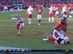 Video - Denver Broncos quarterback Peyton Manning's 11-yard TD strike