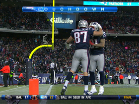 Video - New England Patriots tight end Rob Gronkowski 23-yard touchdown catch