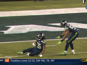 Video - St. Louis Rams QB Sam Bradford picked off by Seattle Seahawks CB Richard Sherman to end game