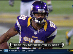 Video - Coach 'em up: Minnesota Vikings RB Adrian Peterson carving up the Green Bay Packers