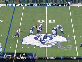 Colts defense, sack, 9-yd loss
