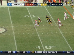 Watch: D Browns, 35-yd, run, 4th down conversion