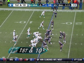 Patriots defense, sack, 1-yd loss