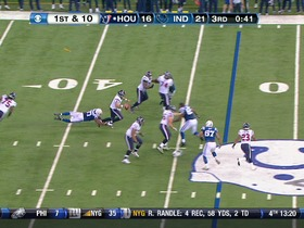 Colts defense, sack, 2-yd loss