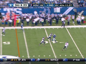 QB Luck to WR Hilton, 70-yd, pass, TD
