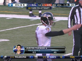 Tucker, 49-yd FG