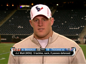 Video - Watt talks big Texans win