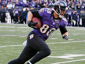 Video - Baltimore Ravens tight end Dennis Pitta 20-yard TD catch