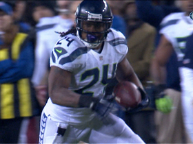 Video - Seattle Seahawks running back Marshawn Lynch scoops up fumble for 20-yard gain