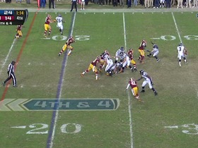 Watch: Redskins defense, 4th down failed