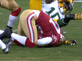 Video - San Francisco 49ers safety C.J. Spillman recovers Packers muffed ball