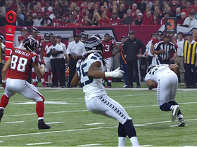 Video - Seattle Seahawks linebacker Bobby Wagner intercepts Atlanta Falcons quarterback Matt Ryan