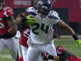 Video - Atlanta Falcons defensive lineman Jonathan Babineaux recovers Seattle Seahawks running back Marshawn Lynch's fumble.