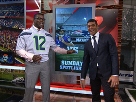 Video - Seattle Seahawks quarterback Russell Wilson on Baltimore Ravens quarterback Joe Flacco beating the New England Patriots' seconda