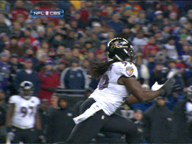 Video - Baltimore Ravens linebacker Dannell Ellerbe picks off Tom Brady