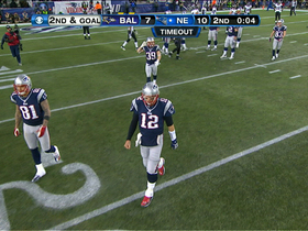 Brady forced to call timeout with :04 left in first half