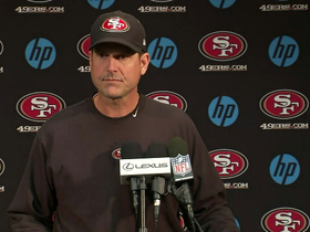 Video - San Francisco 49ers head coach Jim Harbaugh on Super Bowl matchup: 'It is a blessing and a curse'